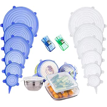 Reusable Silicone Stretch Lids for Bowl,Cup,Pot,Pan,Dish, Food Covers,Flexible Silicone Lids Food Wrap Apply to All Kinds of Food Storage Container
