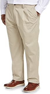 Amazon Essentials Men's Big & Tall Loose-fit Wrinkle-Resistant Pleated Chino Pant fit by DXL fit by DXL