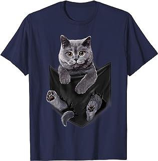 British Cat Pocket T Shirt Shirt