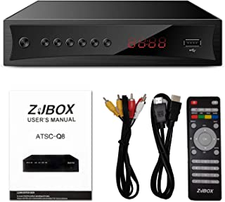 Digital TV Converter Box, ATSC Cabal Box - ZJBOX for Analog HDTV Live1080P with PVR Recording&Playback,HDMI Output,Timer S...