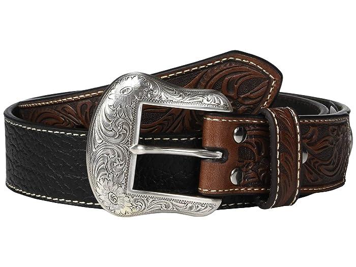 M&F Western Nocona Embossed Billets Belt (Black) Men