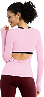 BUBBLELIME 4 Styles Basic/Open Back/Racerback Women's Workout Shirts Soft Athletic Yoga Tops Running Outdoor Sports Casual