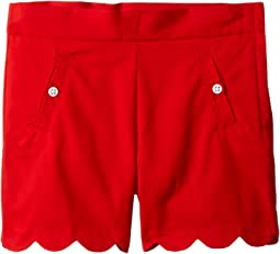 Scalloped Shorts with Side Pockets (Toddler/Little Kids/Big Kids)