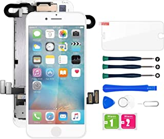 for iPhone 7 Plus Screen Replacement White, LCD Display with 3D Touch Screen Digitizer Frame Assembly with Proximity Senso...