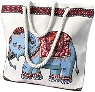 Women's Canvas Shoulder Hand Bag Tote Bag Beach bag Portable Handbag