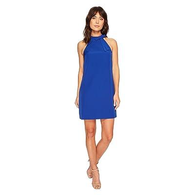 Maggy London Halter Shift Dress with Necktie (Patriot Blue) Women