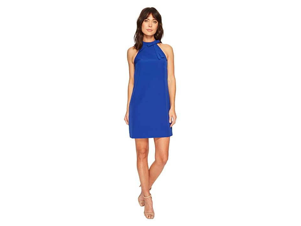 Maggy London Halter Shift Dress with Necktie (Patriot Blue) Women