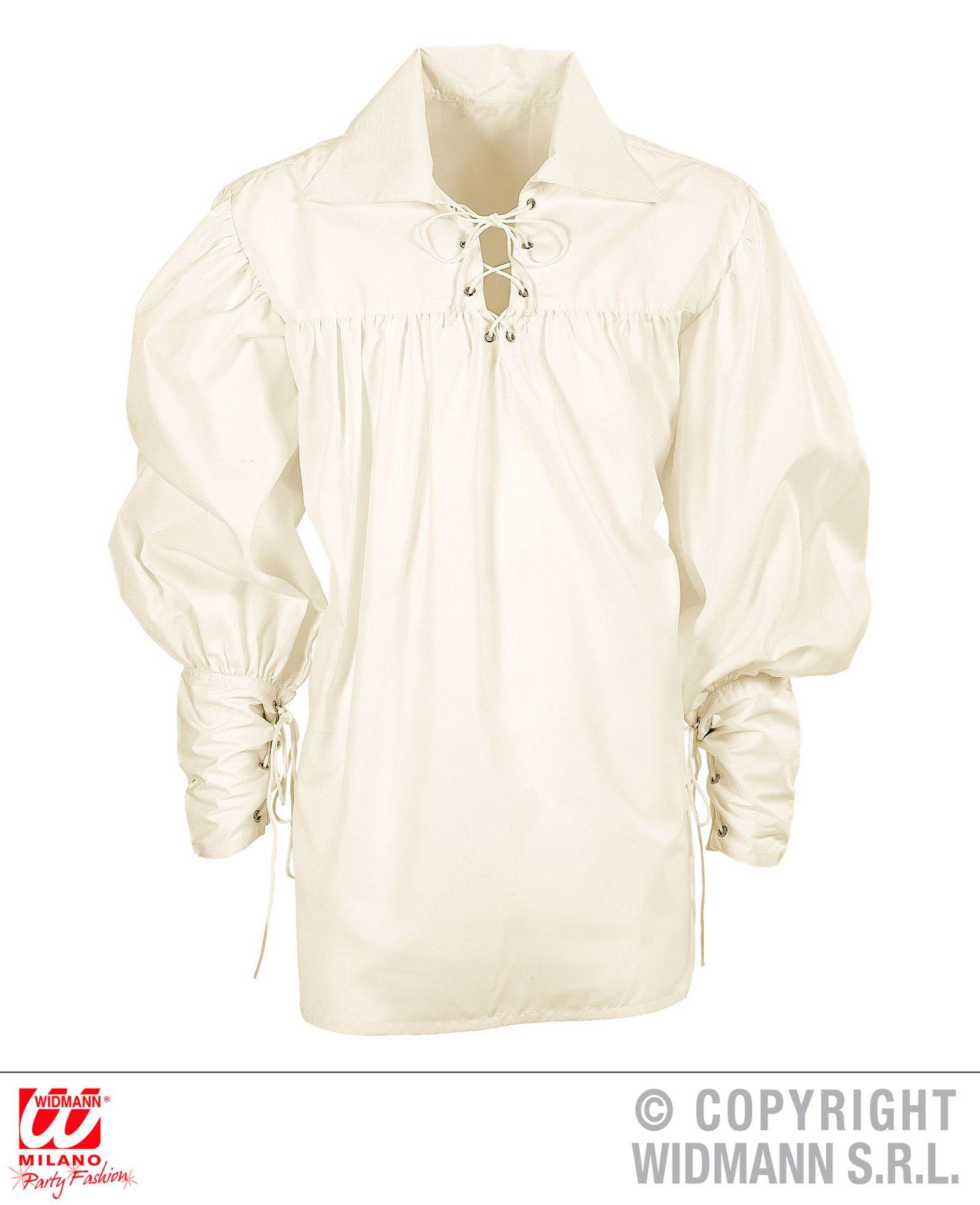 WIDMANN wdm67656 ? Disfraz para adultos Camisa Spadaccino Crema, Blanco, M: Amazon.es: Juguetes y juegos
