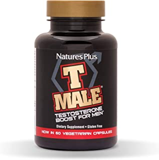 NaturesPlus T Male - 60 Vegetarian Capsules - Natural Testosterone Boost For Men - Promotes Muscle Gain, Stamina & Sexual ...