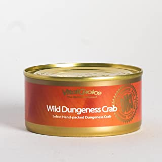 Vital Choice Wild Dungeness Crab 3-Pack – Sustainable Canned Crab Leg Meat with Flaked Sections – Delicious Gluten-Free, Low-Mercury, and Low-Sodium Crab Meat – Hand-Packed in USA, 6 oz. Cans