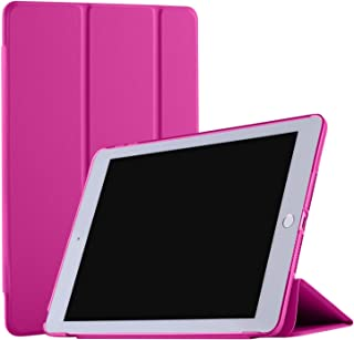 DuraSafe Cases for iPad PRO 12.9 Inch 2 Gen - 2017 [ A1670 A1671 ] Smart Cover with Transparent Back - Pink (Auto Sleep/Wake)