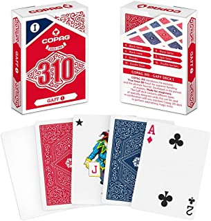 Copag 310 Gaff I, Gimmick Magic Trick Playing Card Deck, Poker Size/Regular Index True Linen Plastic-Coated Finish
