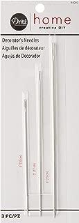 Dritz Home 44003 Decorator's Hand Needles, Size 4, 5 & 6-Inch (3-Piece)