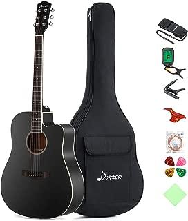 Donner DAG-1CB Black Beginner Acoustic Guitar Full Size, 41