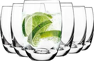 Krosno Vasos de Agua Highball | Set 6 Piezas | 360 ML | Elite Collection Uso en Casa, Restaurante y en Fiestas | Apto para Microondas y Lavavajillas