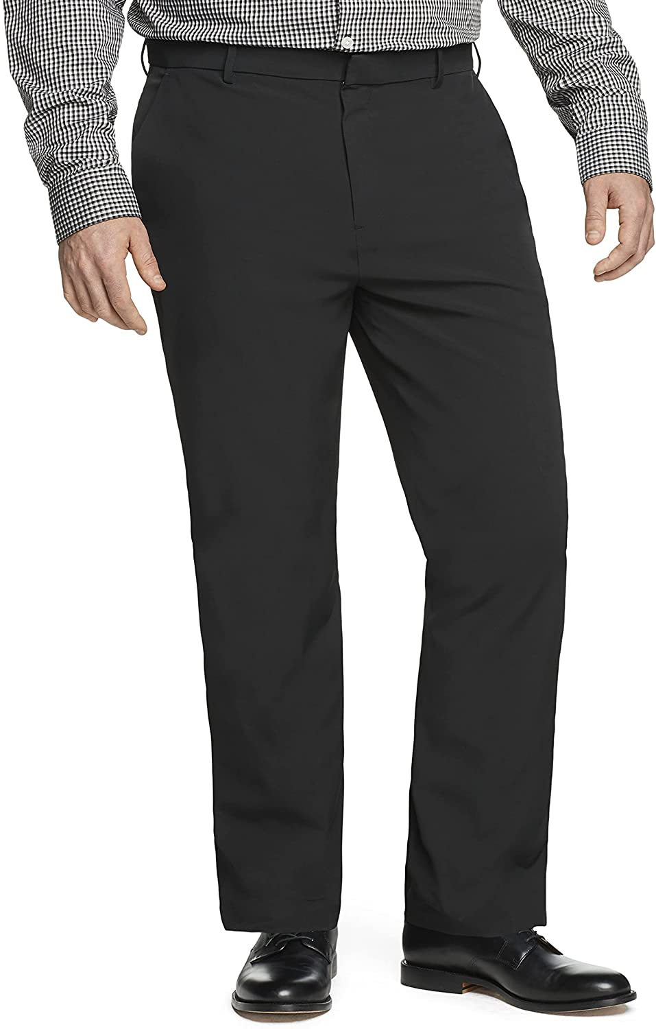 Van Heusen Men's Big & Tall Big and Tall Stain Shield Stretch Straight Fit Flat Front Dress Pant