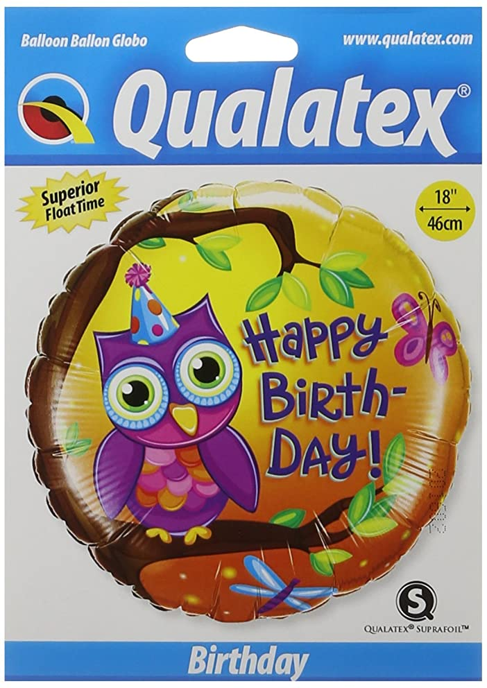 PIONEER BALLOON COMPANY B'day Owl Foil Pack, 18