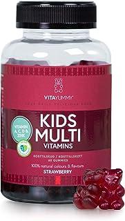 VITAYUMMY Kids Multivitamin Gummies for Kids. Berry Flavour   Rich in Vitamin A C D E & B12   Natural. Gelatine-Free & Vegetarian   Manufactured in Germany   60 Gummies 1 Month Supply