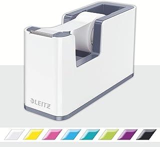 Leitz Duo Colour Klebeband-Tischabroller, perlweiß /grau, WOW, 53641001
