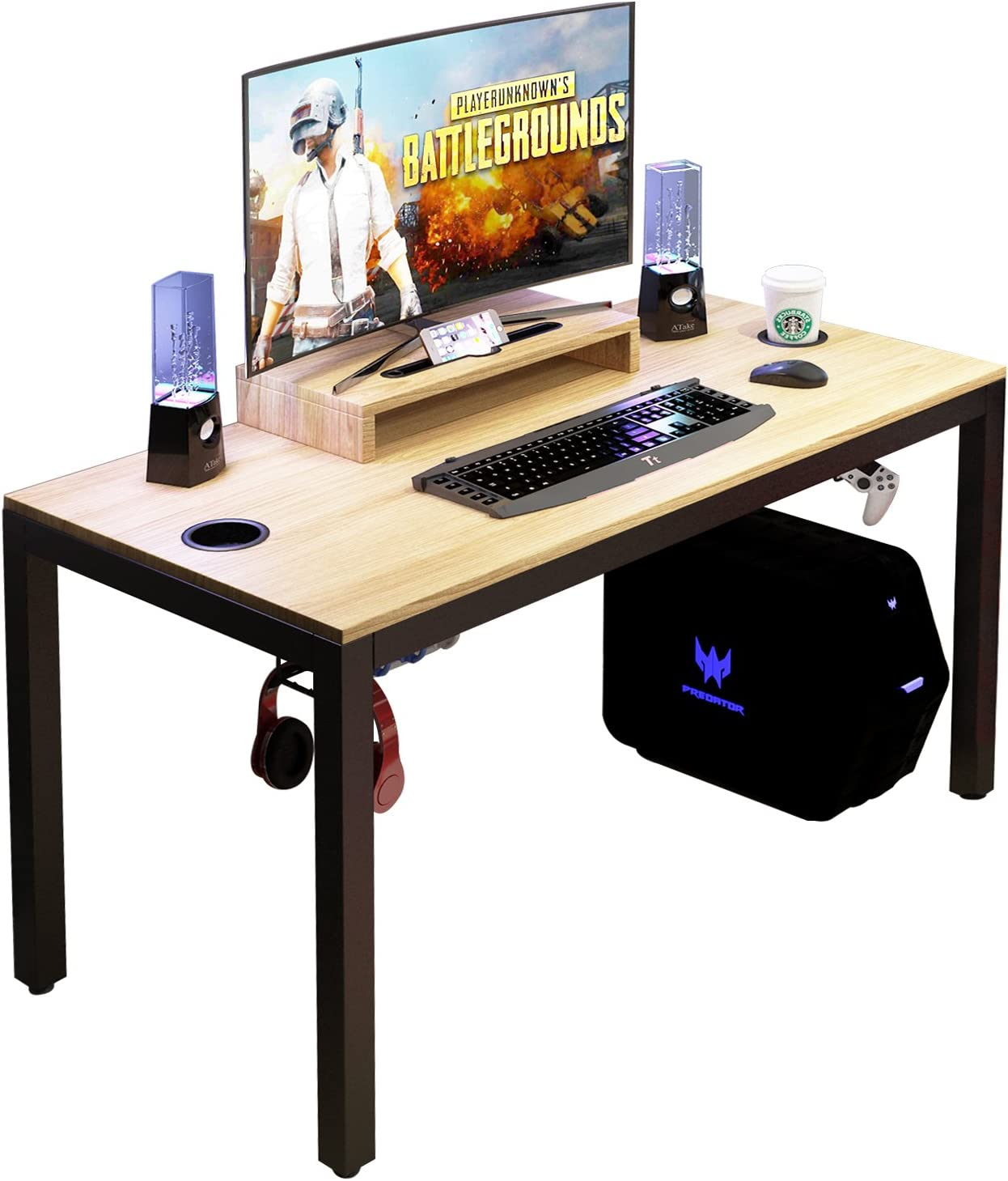 sogesfurniture Gaming Computer Desk Table 品質検査済 47 inches 最新号掲載アイテム