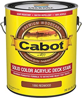 Low Luster Solid Acrylic Stain for Concrete, Wood, Redwood, 1 gal.