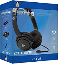 4GAMERS PRO4-40BLK Stereo Gaming Headset, Black (PS4)
