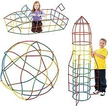 Meliya Kids 400Pcs Straw Building Construction Toys Set 4D Space Building Blocks Sticks DIY Assembly Educational Toys Gift