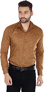 AS Trend Men's Pure Cotton Casual Regular Fit Printed Full Sleeve Shirt