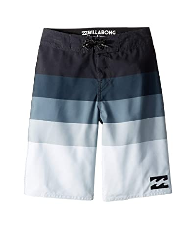 Billabong Kids Midway Stripe Boardshorts (Big Kids) (Black) Boy