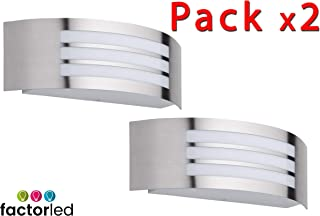 FactorLED Pack x2 Apliques de Pared LED 12W, Lámpara