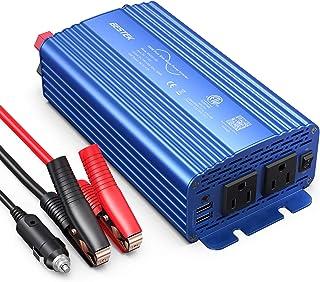 BESTEK 500W Pure Sine Wave Power Inverter DC 12V to 110V AC Car Plug Inverter Adapter Power Converter with 4.2A Dual USB C...