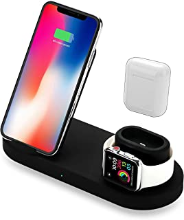 Xxalpha 4 in 1 Wireless Charger Stand for Phone, Airpods, Watch, and USB - Wireless Charging Dock Compatible with Apple iWatch, iPhone, Qi and More
