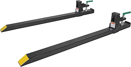 Clamp on LW Pallet Forks 1500 lb for bucket loaders tractors or skid steers (COF-LW) - coolthings.us