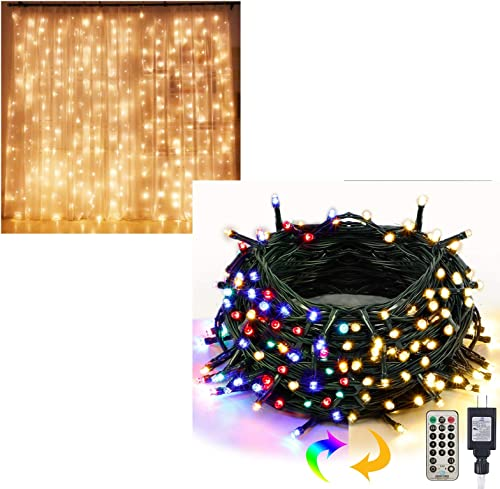new arrival Twinkle popular Star 300 LED Curtain Lights | 200 high quality LED Color Changing Green Wire Fairy String Lights online sale