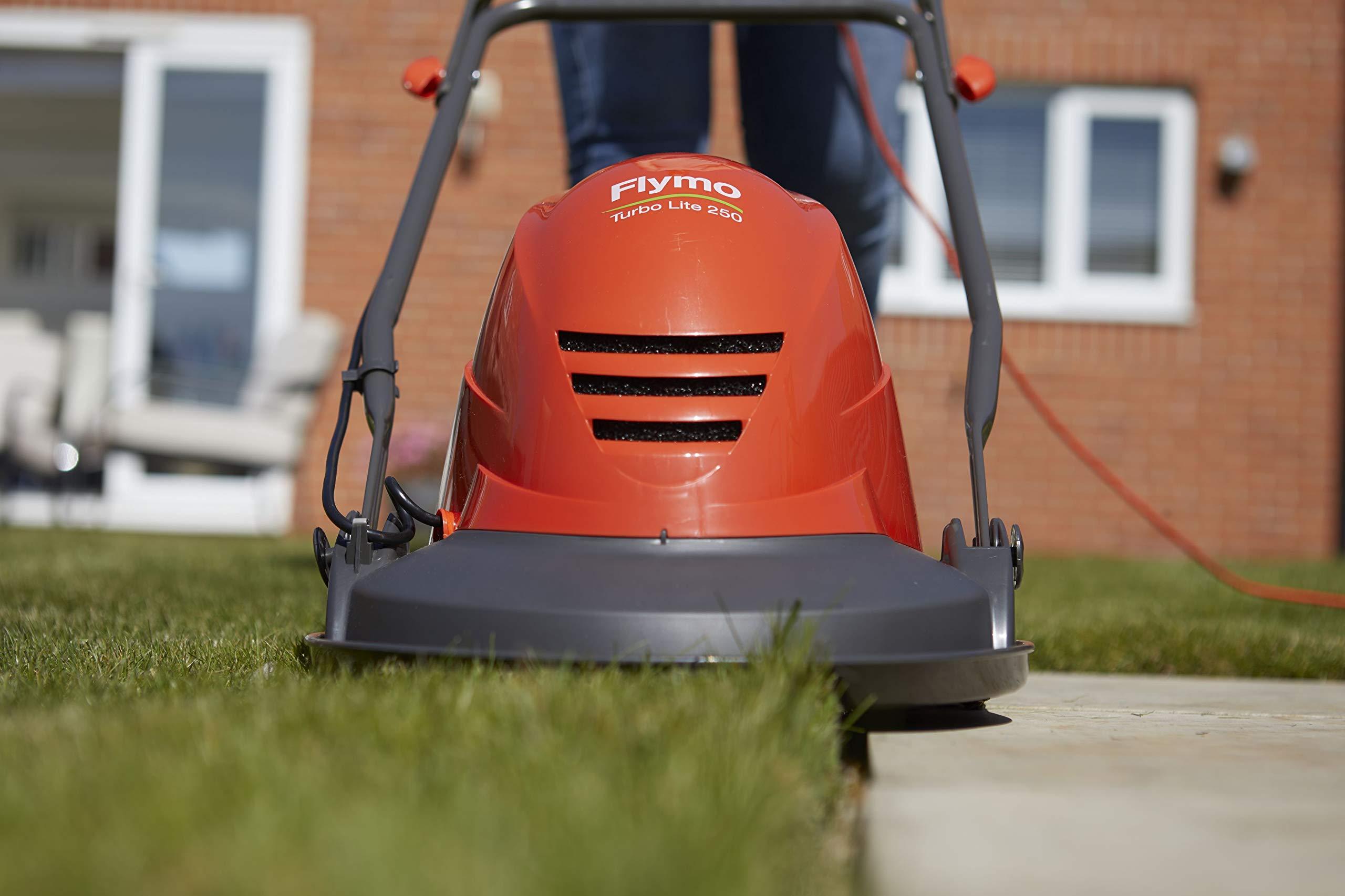 Flymo Turbo Lite 270 Electric Hover Lawn Mower Self-Mulching 27 cm Cutting Width 1400 W