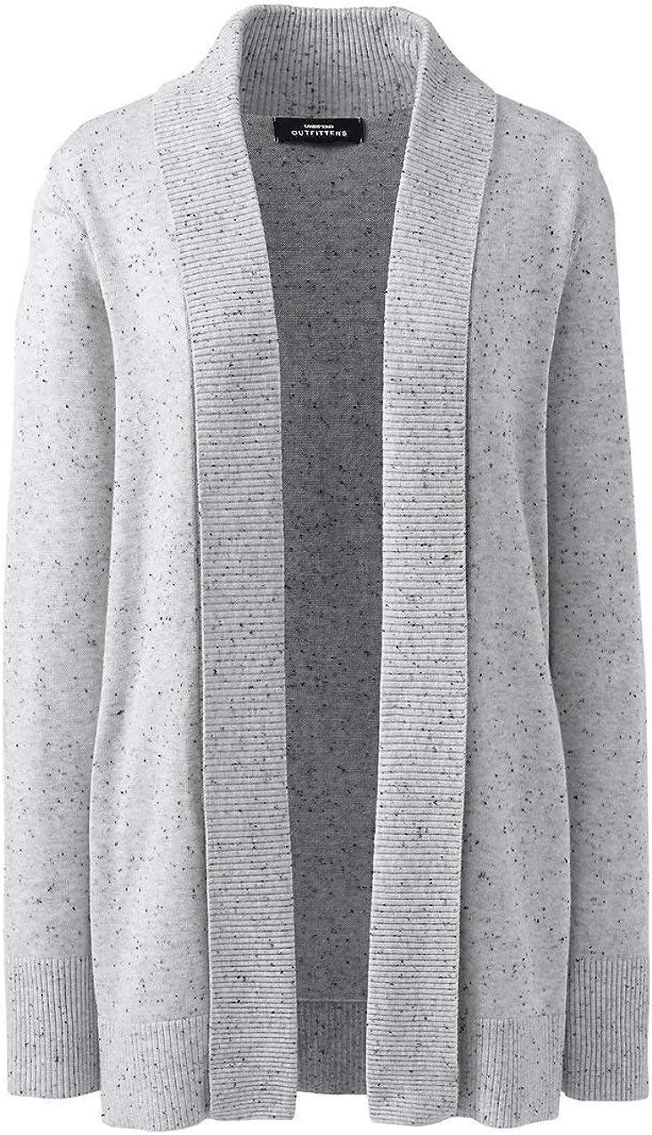 Lands' End Women's Cotton Modal Shawl Collar Cardigan Sweater