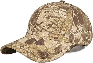 قبعة بيسبول مموهة بنمط ثعبان جديدة قبعة واقية من الشمس قبعة رياضية خارجية لتسلق الجبال قبعة بيسبول