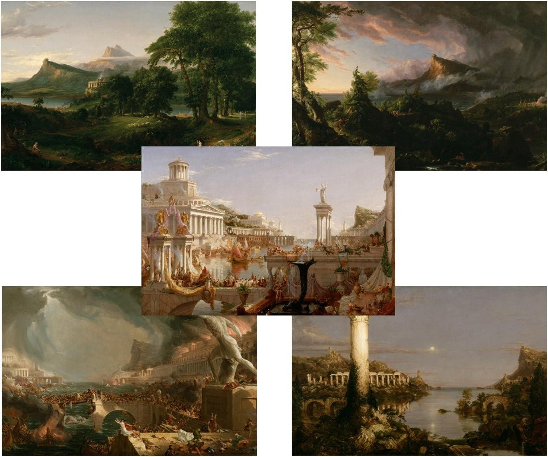 TMP Thomas Cole - The Course of Empire - Complete Set - 5 Art Prints - 11x17