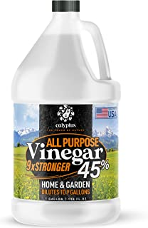 Calyptus 45% Pure Super Concentrated Vinegar | Dilutes to 9 Gallons | 9x Power Cleaning Vinegar | Plant Based | Home and O...