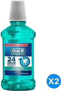Oral B Pro Expert Deep Clean Mild Mint Mouthwash, Dual Pack, 250 ml