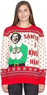 Elf Buddy Santa I Know Him Pattern Adult Ugly Christmas Sweater