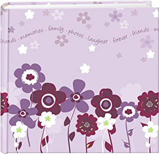 Pioneer Photo Albums 200 Pocket Printed Lavender Blooms Design Photo Album for 4 by 6-Inch Prints