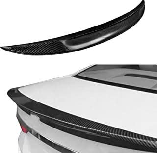 Mophorn Carbon Fiber Rear Trunk Lip Spoiler Fit for 2007-2013 BMW E92 Coupe 328i 335i M3 Rear Wing Spoiler High Kick Replacement Wing Lip Trunk Boot Lid Rear Spoiler (for E92 Coupe 328i 335i M3)