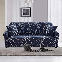 Geecol Printed Sofa Cover Stretch Fabric Couch Cover Sofa Slipcovers Protector (55''-70''2 Seater Sofa, Tree Branch)