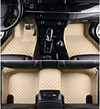 Jiahe for Infiniti FX Series FX35 FX45 2004-2008 Car Floor Mats Full Covered Advanced Performance Leather Carpet Auto All Weather Protection Front & Rear Liner Set Beige