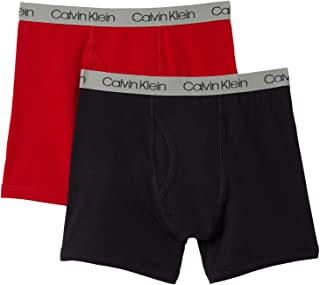 Calvin Klein Boy's Kids Modern Cotton Assorted Boxer Briefs Underwear, Multipack
