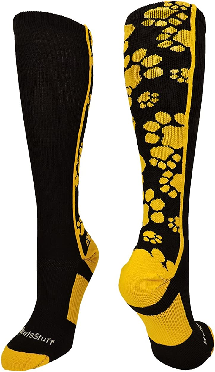 Multiple Colors Crazy Socks with Paws Over The Calf