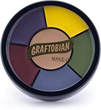 Graftobian Severe Trauma Bruise Makeup Wheel for Special Effects and Halloween - 6 Colors