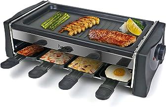 Appareil a Raclette 8 Personne, Machine a Raclette avec 8 Mini Coupelle, Thermostat Revêtement Antiadhésif, 1300W