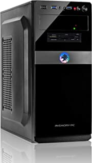 Memory PC de Bureau Intel de Base i5-9600K 4.3 GHz Turbo 6X, ASUS, 8 Go DDR4, 480 Go SSD..
